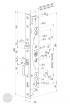 ABLOY EL 461 elektromechanikus bevéső zár 92/30/28 (D,E) méretezett rajz
