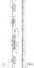 EFFEFF 819L32 tpz elektromechanikus bevéső zár, 12V DC, 92/35, C méretezett rajz