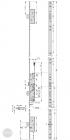 EFFEFF 819L34 tpz elektromechanikus bevéső zár, 12V DC, 92/35, D méretezett rajz