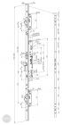 ABLOY EL 466 tpz elektromechanikus bevéső zár 92/30/24 (F) méretezett rajz