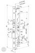ABLOY EL 420 elektromotoros bevéső zár 92/30/28 (D,E) méretezett rajz