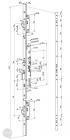 EFFEFF 529X tpz elektromotoros bevéső zár, 12-24V DC, 92/30/24 méretezett rajz