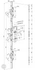 EFFEFF 529X tpz elektromotoros bevéső zár, 12-24V DC, 72/55/24 méretezett rajz