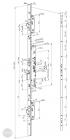 ABLOY EL 426 tpz elektromotoros bevéső zár 92/30/24 (C,F) méretezett rajz