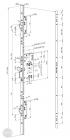 ABLOY EL 526 tpz elektromotoros bevéső zár 72/55/24 (C,F) méretezett rajz
