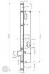 EFFEFF 5540-30 elektromotoros lengő ajtóretesz, 12V DC, 30 méretezett rajz