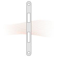 EFFEFF 809HZ20 lapos ellenlemez 235x20x3, rozsdamentes acél