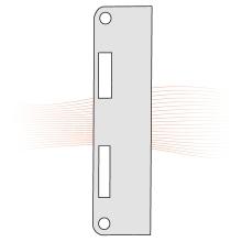 EFFEFF 809LAP lapos ellenlemez 180x50x3, rozsdamentes acél