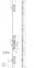 EFFEFF 319L tpz mechanikus bevéső zár, balos, 92/35/24 méretezett rajz