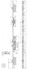 EFFEFF 319E-F tpz mechanikus bevéső zár, balos, 92/55/24 méretezett rajz