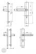 BASI SB 5000 SK2 biztonsági zárpajzs, K-K 50-54/12/92, szögletes natúr alu méretezett rajz