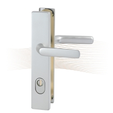 BASI SB 5000 SK2 ZA biztonsági zárpajzs, K-K 50-54/10-18/92, szögletes nikkel ezüst alu