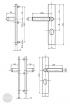 BASI SB 5000 SK2 ZA biztonsági zárpajzs, K-K 50-54/10-18/92, szögletes nikkel ezüst alu méretezett rajz