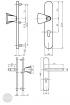 BASI SB 5000 SK2 biztonsági zárpajzs, G-K 38-44/12/72, kerek natúr alu méretezett rajz
