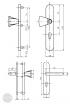 BASI SB 5000 SK2 biztonsági zárpajzs, G-K 50-54/12/92, kerek natúr alu méretezett rajz
