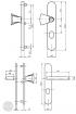 BASI SB 5000 SK2 ZA biztonsági zárpajzs, G-K 38-44/10-18/72, kerek natúr alu méretezett rajz