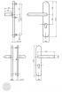 BASI SB 5000 SK1 biztonsági zárpajzs, K-K 38-44/12/72, kerek natúr alu méretezett rajz