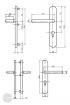 BASI SB 5000 SK2 biztonsági zárpajzs, K-K 50-54/12/92, kerek natúr alu méretezett rajz