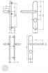 BASI SB 5000 SK1 ZA biztonsági zárpajzs, K-K 38-44/12/72, kerek natúr alu méretezett rajz