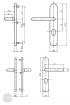 BASI SB 5000 SK1 ZA biztonsági zárpajzs, K-K 50-54/12/92, kerek natúr alu méretezett rajz