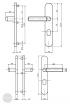 BASI SB 5000 SK2 ZA biztonsági zárpajzs, K-K 38-44/12/72, kerek natúr alu méretezett rajz