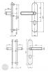 BASI SB 5000 SK2 ZA biztonsági zárpajzs, K-K 50-54/10-18/92, kerek natúr alu méretezett rajz